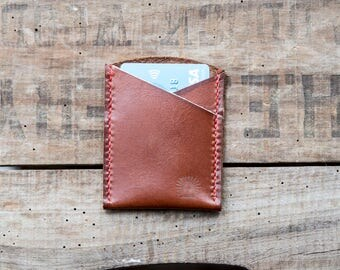 Leather Card Holder, Hand Made in England.
