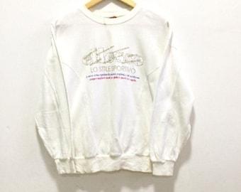 MEGA SALE Vintage Ellese Sweatshirt Spellout Hip Hop Ski Surf Big Logo Sweatshirt