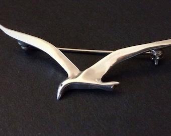 Laysan Albatross Brooch- Sterling Silver