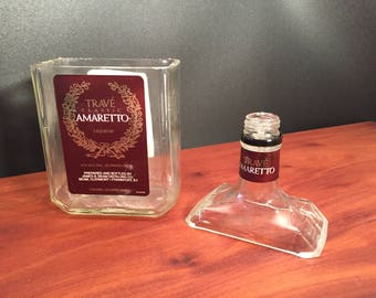 Trave Amaretto Candle Liqueur Bottle Soy Candle.  Made To Order !!!!!