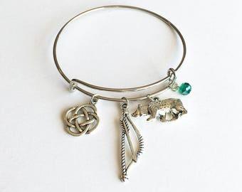 Merida / Brave Inspired Charm Bracelet