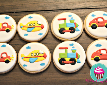 Transportation Theme Cookies