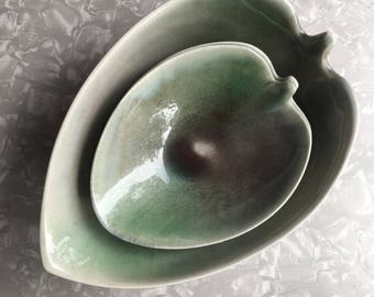 Set of 4 Francis J. Von tury Leaf Bowls - Midcentury American Pottery