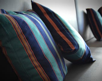 Magnificent Hand-woven pair of Pillow cover from Oxchuc - Mexico