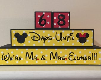 Disney Wedding Countdown Blocks