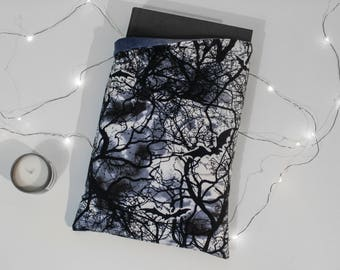 Reversible Book Sleeve - Full Moon and Bats