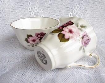 Royal Grafton Cream Sugar Bowl Milk jug sugar bowl Grafton serving set English Bone China Old Country Mother gift for her Victorian style