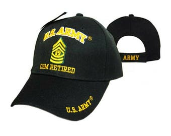 US ARMY Command Sergeant Major, CSM, Retired cap