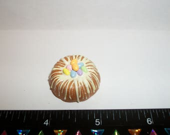 Dollhouse Miniature Handcrafted Easter Egg Dessert Cake Doll Food ~ 1 1/8 inches