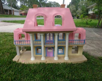 Vintage Little Tikes Grand Mansion with pink roof