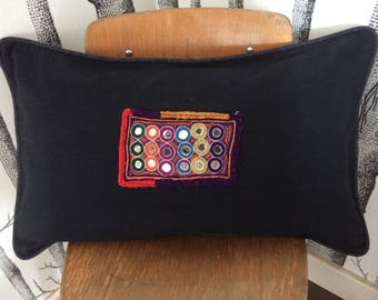 Cushion cover with Indian embroidery