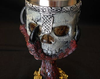 Medieval Goblet - Dragon Claw - Drink - Collection - Heavy - Red - Black - Gray
