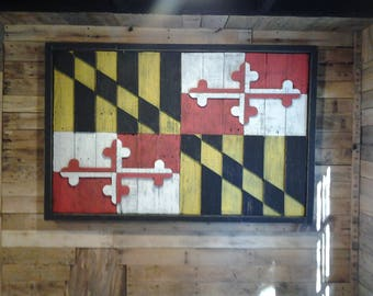 Maryland wooden flag