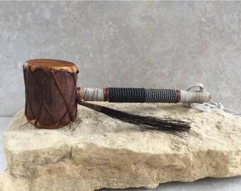 Native American Indian Rattle, native american drum rattle, shaman rattle,native american art, drum,Navajo Drum Rattle w/ Beadwork