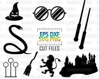 Harry Potter Svg File, Hogwarts Svg, Harry Potter Clipart, Hogwarts Silhouette, Harry Potter Decal, Hogwarts Silhouette, Harry Potter Vector