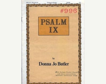 Psalm IX #996 Sheet Music