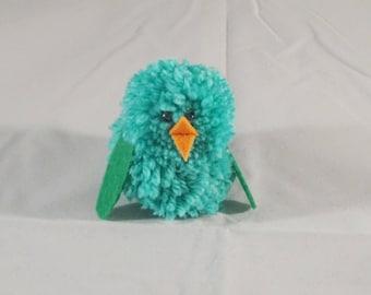 Pom Pom Woodland Colourful Birds Ornament Mini Mascot