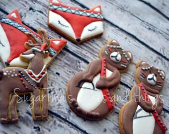 tribal woodland cookies