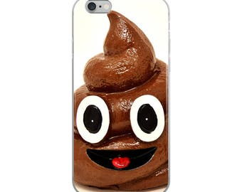 Poop Funny iPhone Case - Iphone 7 case - Iphone 8 case - Iphone 7 plus case - Iphone 6 case - Iphone X case