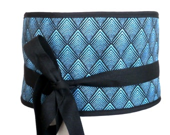 Belt size greenhouse blue wave fabric