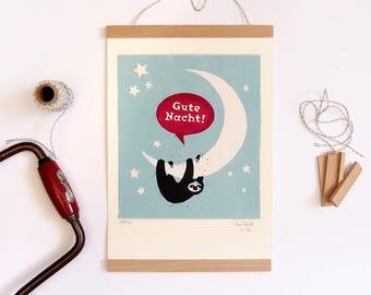 Faultier geschenk etsy for Wanddekoration babyzimmer