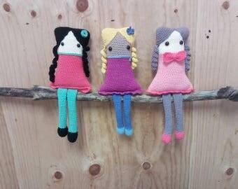 amigurumi toy crochet, amigurumi doll crochet, woven doll, girl amigurumi doll