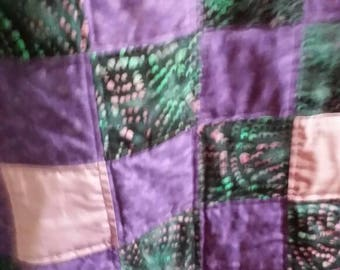 Shades of Purple 9 patch Quilt