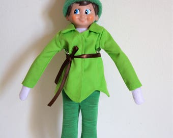 Handmade Doll Clothes Peter Pan Costumes for The Elf on the Shelf Doll Christmas