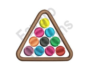 Billiard Balls - Machine Embroidery Design