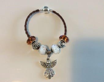 Pandora style bracelet 925 sterling silver