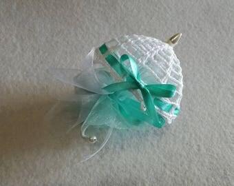 Crochet Wedding Favor Umbrella 9 set or place cards