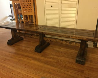 Farmhouse Bench (local pick up and delivery only)