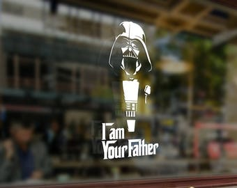 Darth Vader - I'm Your Father Star Wars Vinyl Sticker Funny Decals Bumper Car Auto Laptop Wall Window Glass Skateboard Snowboard Helmet