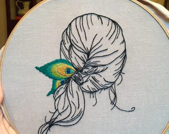 LuLu Contemporary Hand Embroidery Pattern Digital Download