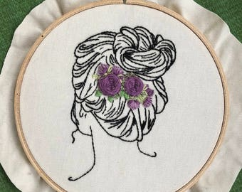 Contemporary Hand Embroidery Pattern *Adelaide* Digital Download