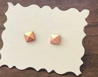 Mini Rose Gold Colored Stud Earrings
