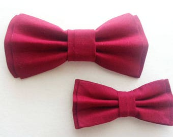 Bow Tie,Mens Bow Tie, Dad and Son Bow Ties, Burgundy Bow Tie, Father Son Bow Ties, Groomsmen Bow Tie, Burgundy Bowtie,  Boys Bow Tie  DS720