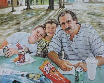 pastel painting-original portrait painting-custom painting-photo to painting-portrait painting-family portrait painting
