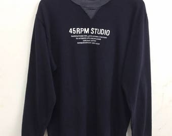 45rpm Longsleeve shirt Rare Vintage 45rpm Japan t Shirt Japan Fasion Designer Avante Garde 45 Sweater Made in Japan