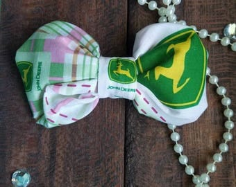 John Deere hair bow