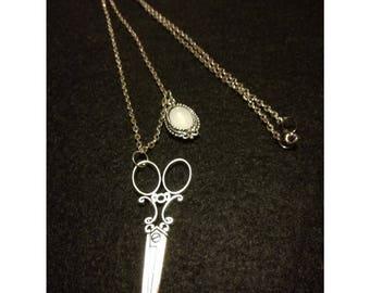 Scissors and Mirror necklace