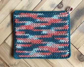 Coral Reef Potholder Pattern / Crochet Pattern / Crochet Potholder / Potholder Pattern