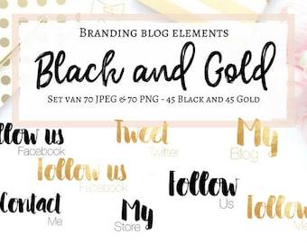 Branding blog kit - Black & Gold