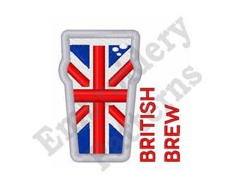 British Brew - Machine Embroidery Design