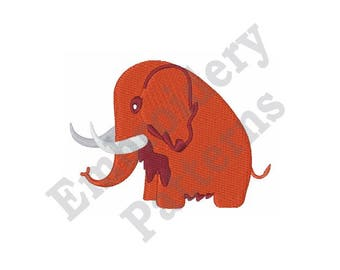 Woolly Mammoth - Machine Embroidery Design