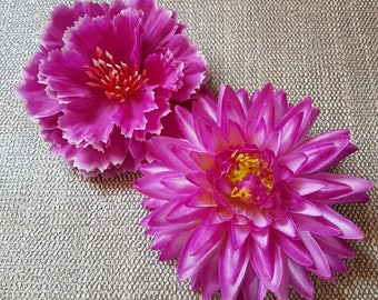 beautiful accessory - large flowers brooches- hair clips - free shipping