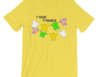 Le Tour De France Cycling Short Sleeve Shirt by Trendyz