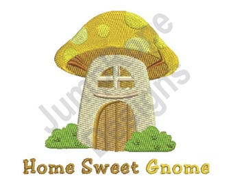 Home Sweet Gnome - Machine Embroidery Design