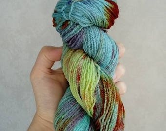 "100% Macomerinos ""Galaxy"" hand dyed wool"