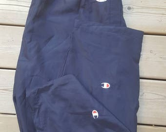 Champion Navy Blue Tear Away Track Pants Vintage Mens XXL Vintage Champion